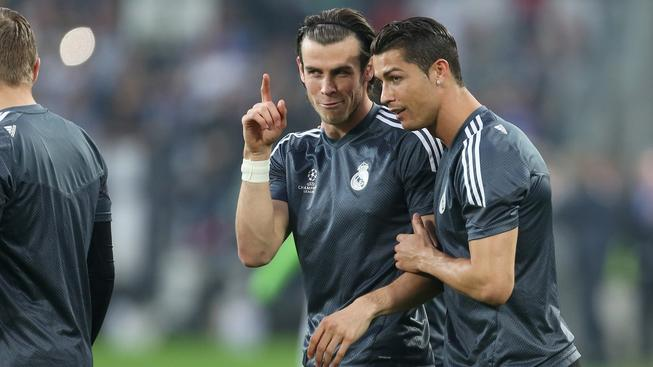 Gareth Bale a Christiano Ronaldo