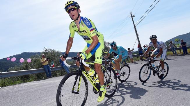 Český cyklista Roman Kreuziger v barvách Tinkoff-Saxo