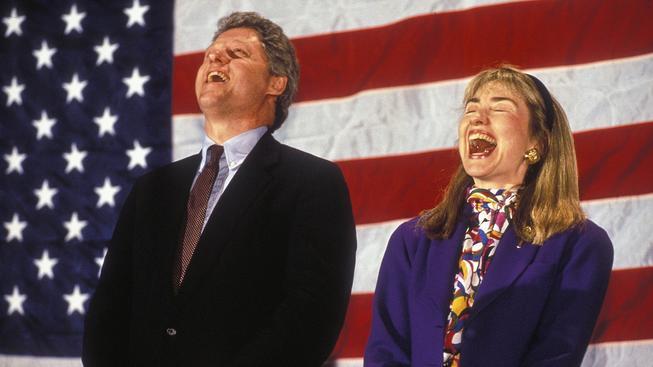 Bill a Hillary Clintonovi během Billovy prezidentské kampaně v roce 1992