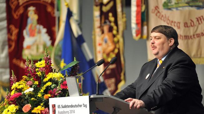 Bernard Possel na loňském sudetoněmeckém sjezdu