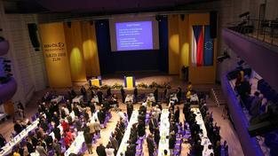 Závěr lidoveckého sjezdu ve Zlíně