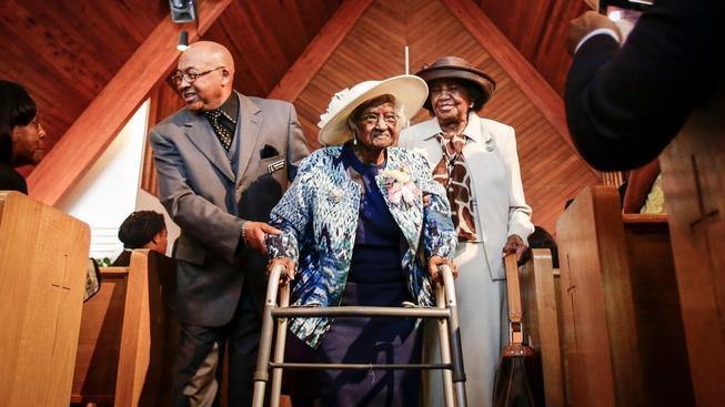 Jeralean Talleyová své 116 narozeniny oslavila v baptistickém kostele
