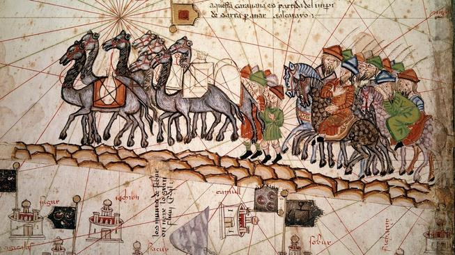 Marco Polo na Hedvábné stezce, katalánský atlas ze 14. století
