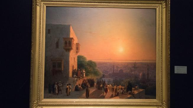 Obraz Večer v Káhiře od Ivana Konstantinoviče Ajvazovského, který nabízí galerie Sotheby´s