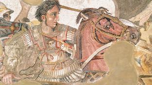 Alexandr Makedonský na slavné fresce Bitva u Issu