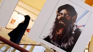 Výstava karikatur zesměšňujících Islámský stát v Teheránu