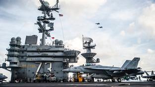 Ilustrační snímek: Společného cvičení s jihokorejským námořnictvem se zúčastnily i americké letadlové lodě