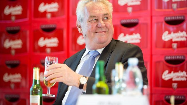 Prezident Miloš Zeman během návštěvy Jihočeského kraje navštívil i pivovar