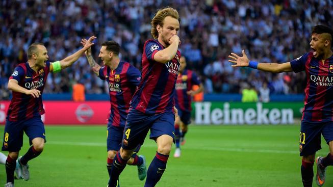 Barcelona slaví vítězství v Lize mistrů