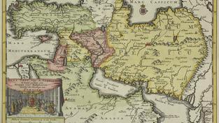Stará mapa Persie a Středního východu