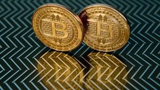 Bitcoinové mince, ilustrační snímek