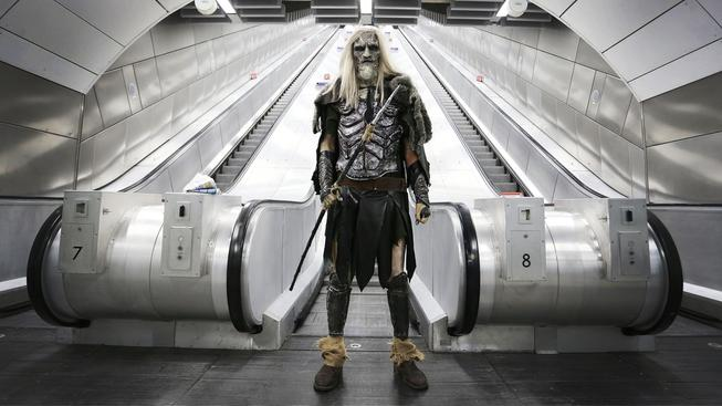 Whitewalker v londýnském metro