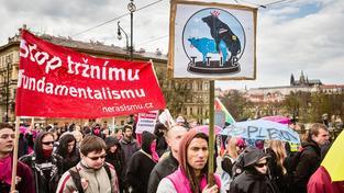 Proti dohodě se i v Česku konaly demonstrace