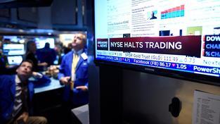 Obchodování na newyorské burze se zastavilo krátce před polednem