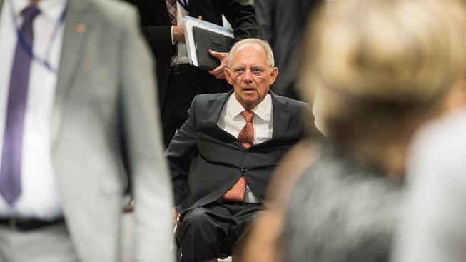 Německý ministr financí Wolfgang Schäuble na víkendovém setkání k řecké dluhové krizi