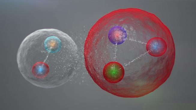 Takhle nějak by mohly vypadat kvarky v pentakvarku