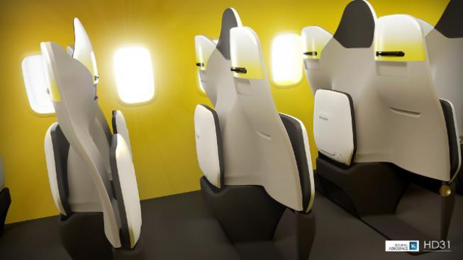 Nové uspořádání sedaček zvýší kapacitu letadla