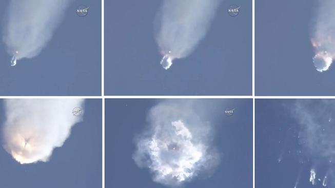 Nepovedený start Falconu s lodí Dragon