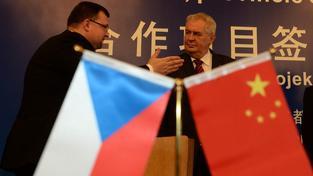 Prezident Zeman při loňské návštěvě Číny