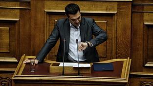 Eurozóna schválila třetí záchranný balíček pro Řecko. Stihla to jen tak tak včas. Na snímku řecký premiér Alexis Tripras