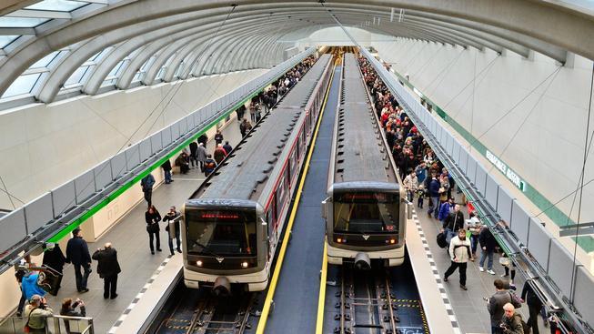 Nový úsek metra A, který byl zprovozněn letos v dubnu. Ilustrační foto