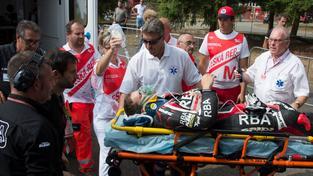 Rodrigo musel být po nehodě převezen do nemocnice