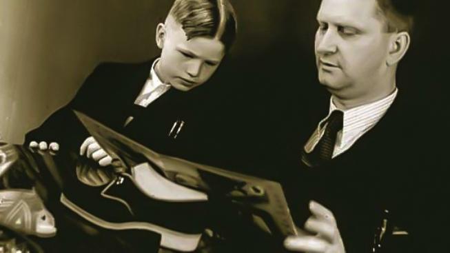 Jan Baťa se synem