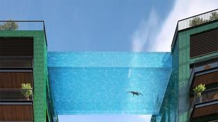 Prosklený bazén se bude nacházet ve výšce 35 metrů