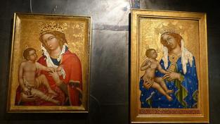 Národní galerie trvá na tom, že obraz Madony z Veveří (vlevo) nevydá