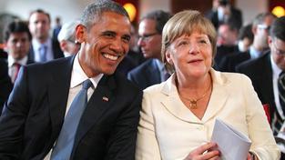 Barack Obama s Angelou Merkelovou mluvil o Ukrajině a uprchlické krizi