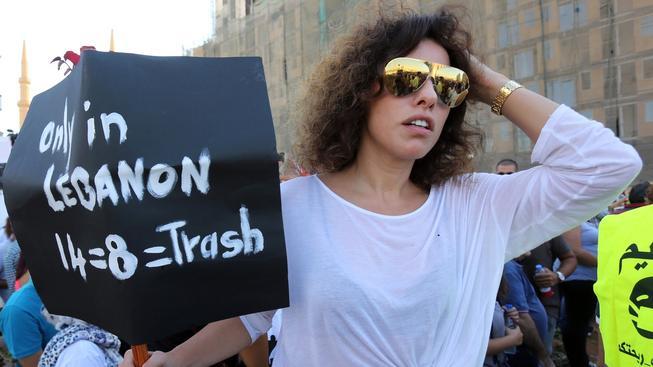 V Bejrútu se opět protestovalo kvůli odpadkům