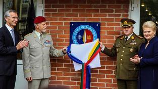 Slavnostní otevření velitelského štábu v Litvě