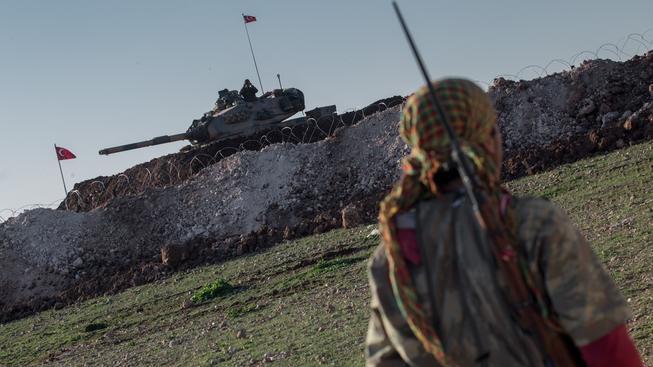 Útoku na pozice Kurdů se zúčastnily pozemní jednotky