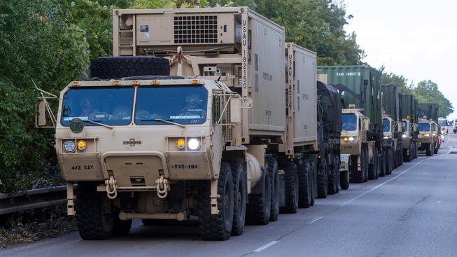 Americký konvoj opouští Česko a jede na cvičení NATO v Maďarsku