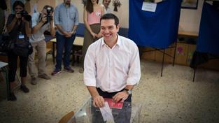Mezi voliči byl i bývalý řecký premiér Alexis Tsipras