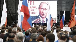 Protestující kritizovali současný režim v Rusku, díky kterému je Putin u moci už 15 let