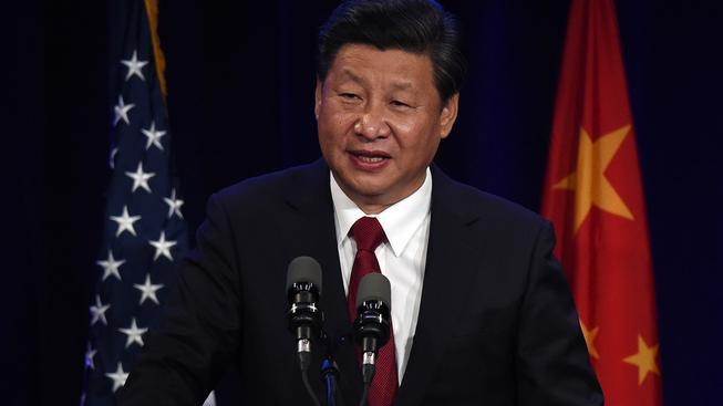 Čínský prezident Si Ťin- pching při projevu v americkém Seattlu