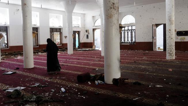 Bomba vybuchla v mešitě v městě Saná