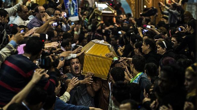 Koptský pohřeb. Ilustrační snímek