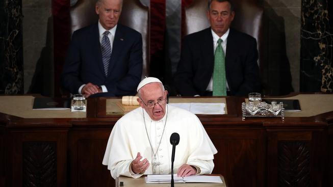 František byl prvním papežem, který mluvil v Kongresu USA