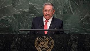 Kubánský prezident Raúl Castro vystoupil v newyorském sídle OSN