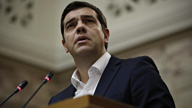 Řecký premiér Alexis Tsipras vystoupil před poslanci z hnutí SYRIZA