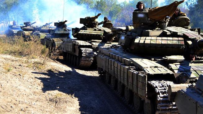 Luhanská lidová armáda stahuje z bojiště těžké zbraně