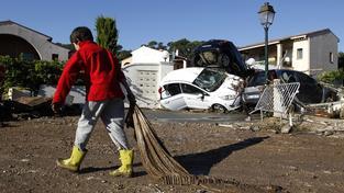 Obec Biot po povodních