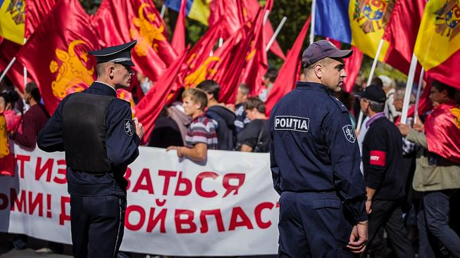 Protivládní protest v centru moldavské metropole