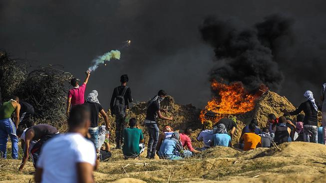 Střet Palestinců s izraelskou bezpečností