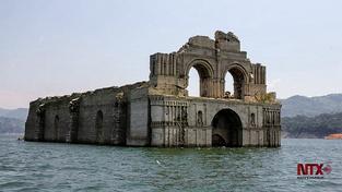 Kostel zmizel pod vodou v roce 1966 při stavbě vodní nádrže