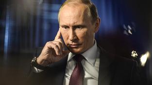 Ruský vůdce Vladimir Putin při nedávném rozhovoru pro státní televizi Rossija