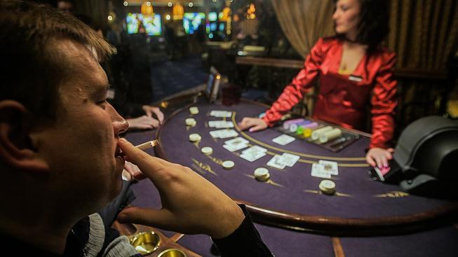 Uvnitř minského kasína Šangri La