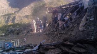 Zkáza, kterou po sobě zanechaly otřesy v afghánské provincii Pandžšír